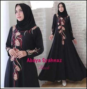 Busana Muslimah Cantik abaya Shahnaz Bahan Crepe