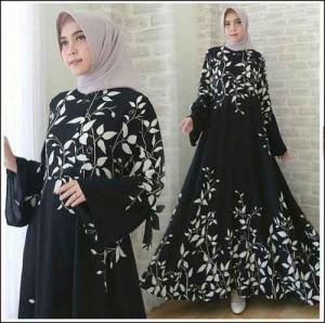 Busana Muslimah Terbaru Ramoza Dress Bahan Bubblepop