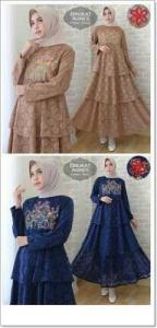 Gamis Modern Ukuran Kecil Agnes Dress Bahan Brukat