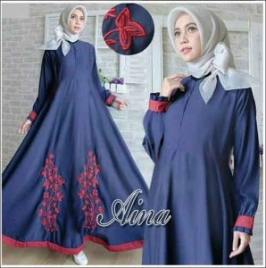 Jual Gamis Murah Aina Dress Bahan Balotelli