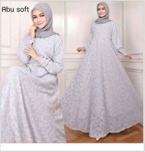 Jual Online Busana Muslim Pesta Zaquard Dress Bahan Arabian Zaquard