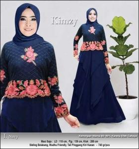 Supplier Baju Gamis Pesta Cantik Kimzy Dress Bahan Tulle
