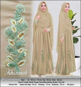 Supplier Baju Gamis Pesta Khazanah Syar'i Bahan Spandex