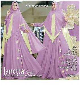 Supplier Baju Pesta Muslim Janetta Syar'i Bahan Ceruti