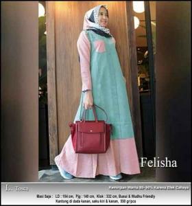 Jual Gamis Modern Felisha Maxi Bahan Oxford