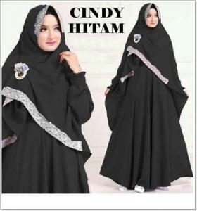 Baju Gamis Syar'i Murah Online Cindy Syar'i Bahan Misbie
