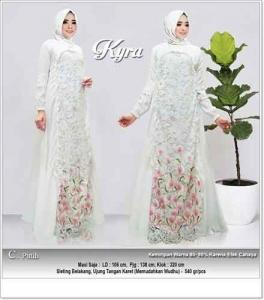 Jual Online Baju Gamis Pesta Modern Kyra Dress Bahan Wollycrepe