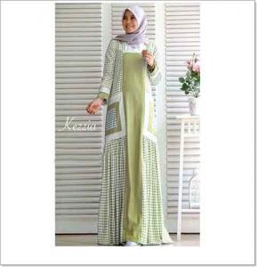 Jual Baju Gamis Katun Modern Kezzia Maxi Bahan Ima Platinum