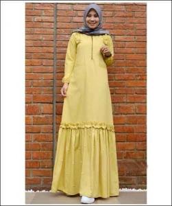Jual Baju Gamis Terbaru Tanah Abang Zahwa Dress Bahan Toyobo