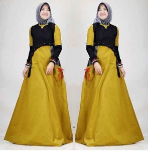 Onlineshop Baju Hijabers Modern Anggun Leoni Maxi Bahan Ima Platinum