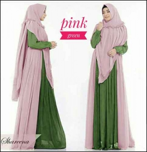 Supplier Baju Gamis Pesta Shareena Syar'i Bahan Ceruti Lapis Furing