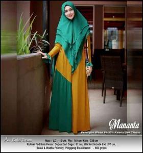 pplier Baju Gamis Pesta Cantik Mananta Syar'i Bahan Ceruti