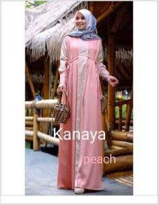 Gamis Cantik Murah Kanaya Dress Bahan Arabian Crepe