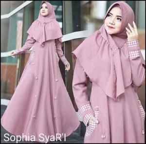 Gamis Muslimah Cantik Shopia Syar'i Bahan Wollycrepe