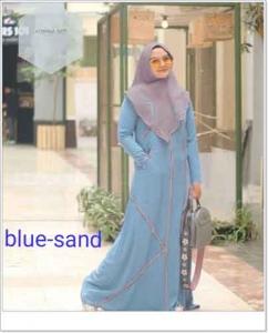 Jual online Baju Gamis Terbaru Agnina Syar'i Warna Bahan Arabian Crepe
