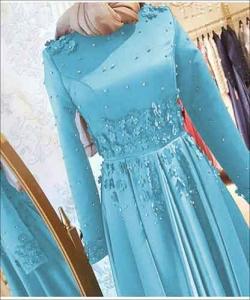 Supplier Baju Gamis Pesta Cantik Aurora Dress Bahan Satin Bridal