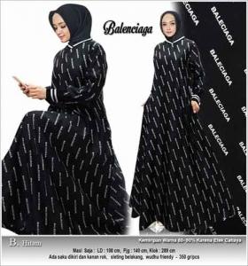 Jual Grosir Busana Muslimah Balenciaga Dress Bahan Maxmara