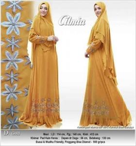 Jual Online Baju Gamis Almia Syar'i Bahan Ceruti