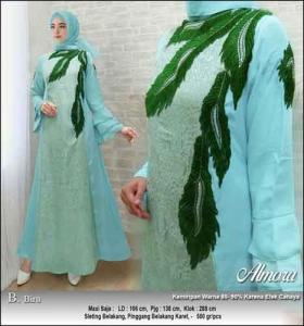 Supplier Baju Gamis Pesta Syar'i Almora Dress bahan Jacquard