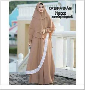 Gamis Polos Elegan Katrina Syar'i Warna Coksu Bahan Ceruti
