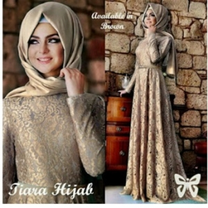 Gamis Pesta Brukat Elegan Tiara Hijab