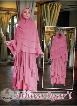 Baju Gamis Syar'i Bahan Jersey Athina