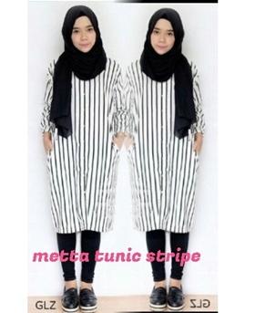Busana Muslim Trendy murah Metta Tunic Stripe