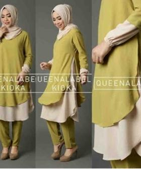 Busana muslim Modern Cantik Kioka Set