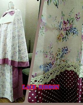 Grosir Mukena Katun Jepang Lace Ribbon Ungu