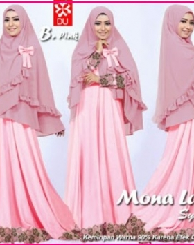 Baju Gamis Pesta Terbaru Anggun Mona Lace