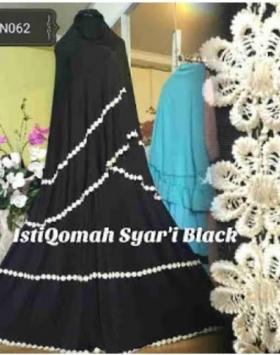 Gamis Syar'i Model Payung Jersey Istiqomah Syar'i Black
