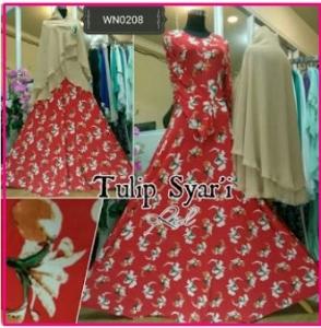 Baju Gamis Pesta Tulip Syar'i-1