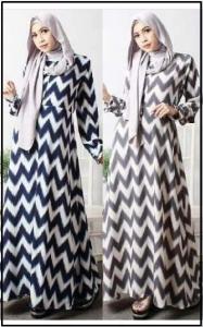 Baju Gamis Terbaru Bahan wolvis Hisanah