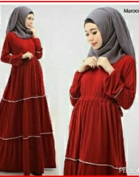Baju Gamis Terbaru Model Bersusun Tiara Syar'i