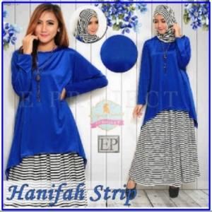 Baju Muslim wanita Trendy Hanifah Stripe