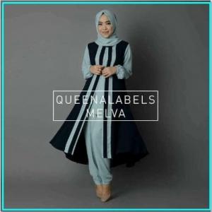 Busana Muslim Modern Bahan Jersey Melva Tunik-1