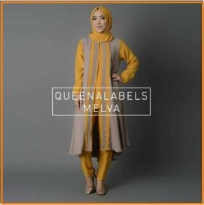 Busana Muslim Modern Bahan Jersey Melva Tunik-2