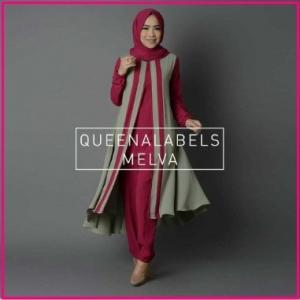 Busana Muslim Modern Bahan Jersey Melva Tunik-6