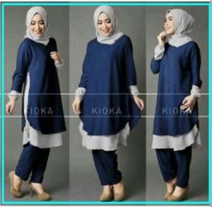 Busana Muslim Modern Cantik Anggun Kioka Set
