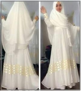 Gamis Cantik Kombinasi Hycon Ayuna Syar'i