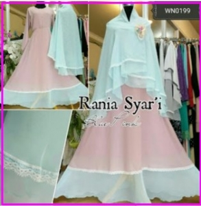 Gamis Cantik Syar'i Terbaru model Busui Rania Syar'i