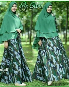 Jual Baju Muslim Trendy Army Syar'i