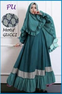 Baju Gamis Terbaru Murah Gucci Syar'i-4