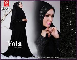 Baju Muslim Terbaru Bahan Spandex Yola Syar'i-1