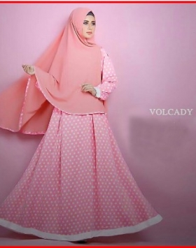 Busana Muslim Terbaru Bahan Woolpeach Volcady Syar'i