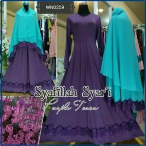 Gamis Muslimah Bahan Jersey Terbaru Syafillah Syar'i-4