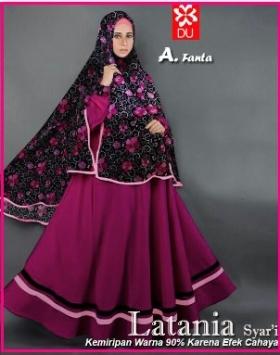 Baju Muslim Cantik Lebaran Latania Syar'i