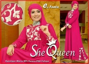 Busana Muslim Pesta Mewah She Queen