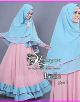 Gamis Lebaran Bahan Jersey Gamis Bella-1