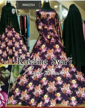 Gamis Rosaline Syar'i-2 Bahan Katun Rayon